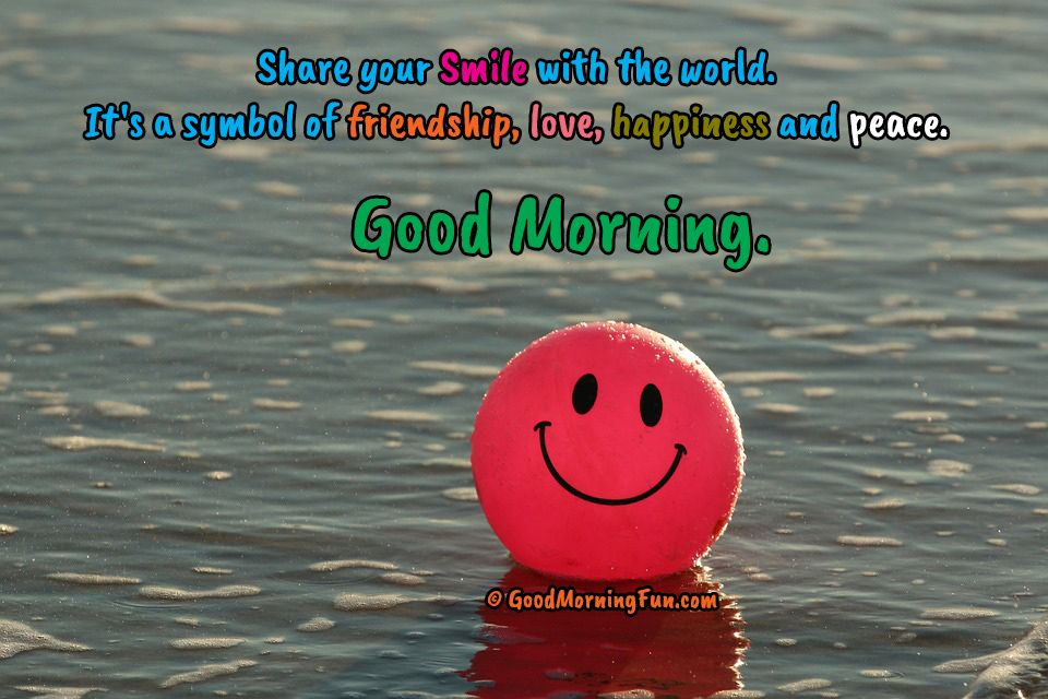 Good Morning With Smile Quotes Pinterest