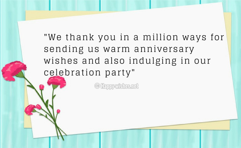 Thank You Message For Wedding Anniversary Pinterest